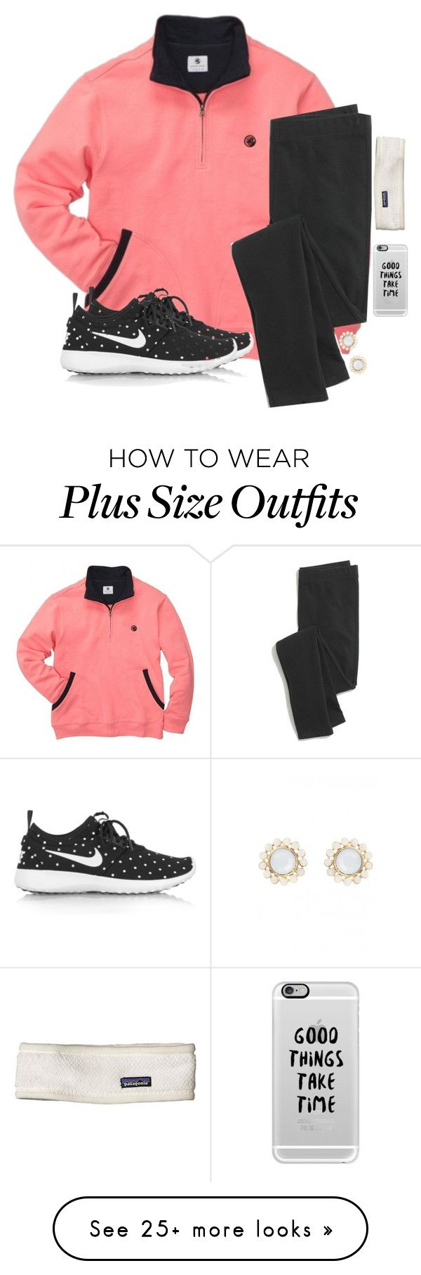 """Good Things Take Time"" by hailstails on Polyvore featuring NIKE, Madewell, Casetify and Patagonia"