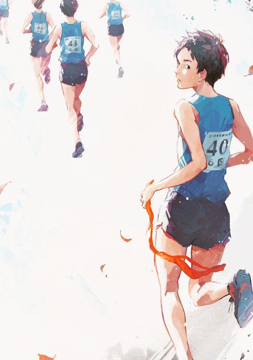 新潮社『あと少し、もう少し』(著:瀬尾まいこ) 装画 I drew the cover illustration for the novel by Maiko Seo, published by Shinchosha publishing.