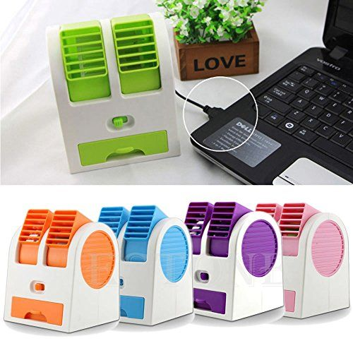 SHOPEE BRANDED Mini Small Fan Cooling Portable Desktop Dual Bladeless Air Conditioner USB | Home and Kitchen Fans Heating Cooling and Air Quality Table Fans | Best news and deals!