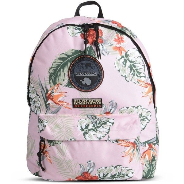Napapijri Backpack ($85) ❤ liked on Polyvore featuring bags, backpacks, light pink, travel backpack, light pink bag, backpack bags, zipper bag and travel bag