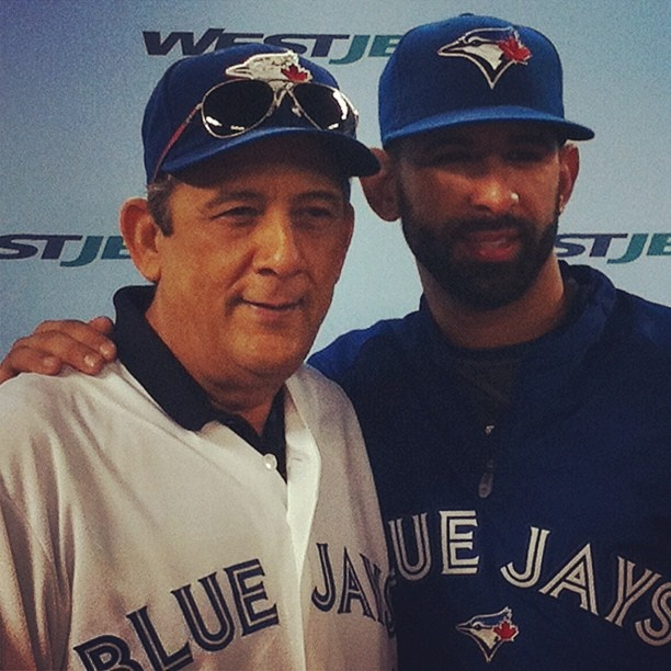 We flew in Luis Bautista from the Dominican Republic, so that he could watch his Blue Jays son, Jose, play on FathersDay. - @westjet- #webstagram