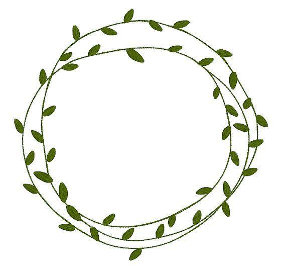 Custom Natural Leaf Frame Simple Leafy Frames Doodles Rustic Etsy Easy Frame Wreath Drawing Leaf Nature