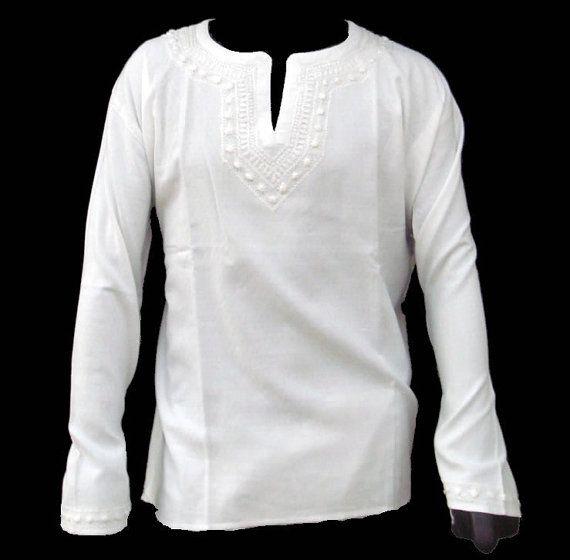 Mens Linen Beach Shirt