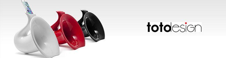 Amplificatori Iphone Ipod Naturali In Ceramica Smaltata Totodesign