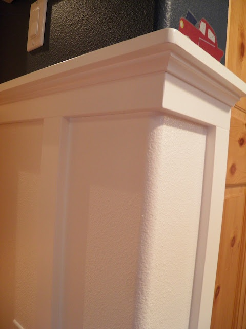 Bedroom Shelves So You Can Do Wainscoting With Bullnose Edges! | When I