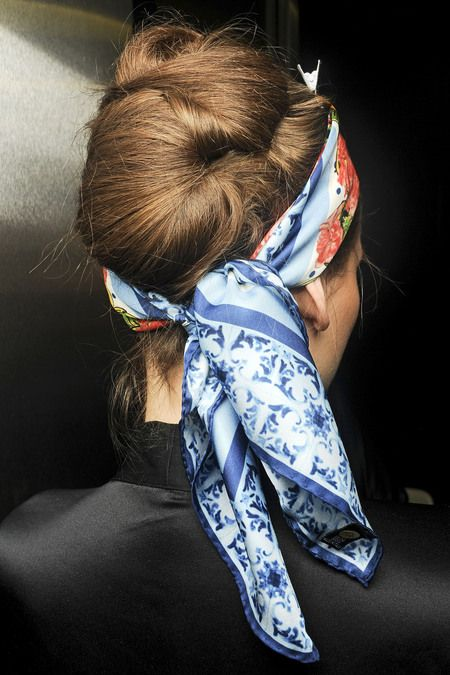 Dolce SS 2013: Head Scarfs, Hairstyles, Spring Hair, Scarfs Style, Headscarves, Spring Summer, Hair Style, Hair Accessories, Silk Scarves