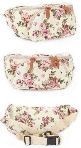 Flower Pattern Waist Bag Pack Hip Sack Fanny Pack Bag | eBay.. NEED THIS