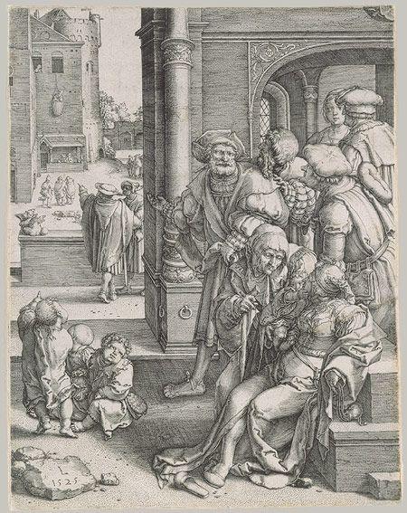 Lucas van Leyden: The Poet Virgil in a Basket (41.1.23)   Heilbrunn Timeline of Art History   The Metropolitan Museum of Art
