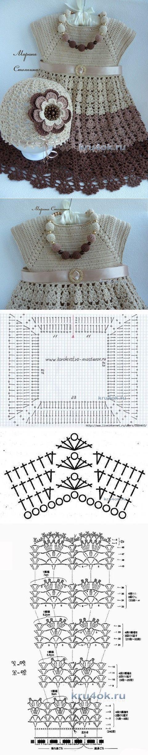 Mejores 361 imágenes de con agujas y lanas en Pinterest | Vestidos ...