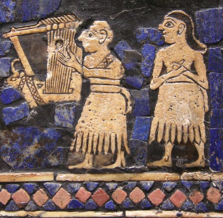 Ancient Middle East Map Mesopotamia%0A Lyres from The Royal Tombs of Ur at an allmale victory celebration  There  is  however  the possibility that   she   is a male priest