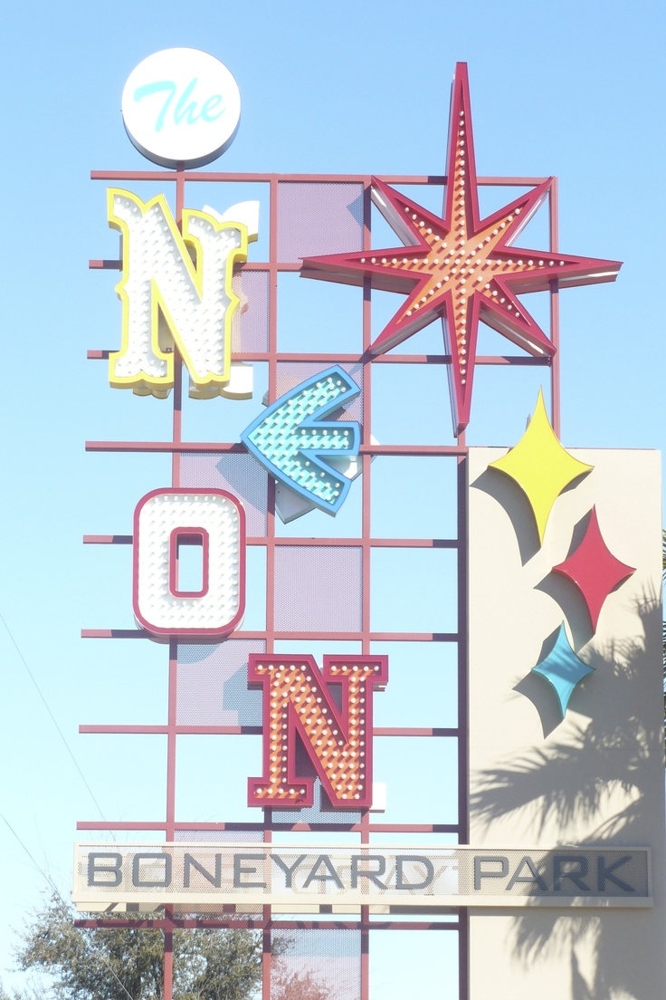 Las Vegas Neon Museum , sign museum of all of the old neon signs that lived in the Las Vegas Area #lasvegas #neon #museum See more http://www.weddingmuseum.com/weddingblog/
