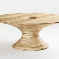WoodLovers.  Round Tulipwood Table by Barnby & Day for Alex de Rijke