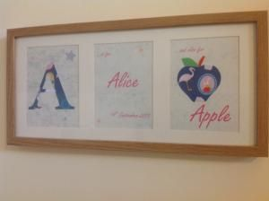 Personalised name frames