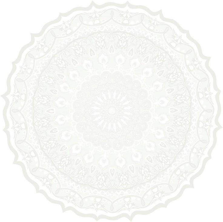 Kaleidoskooppi wallpaper, white. Design Matleena Issakainen