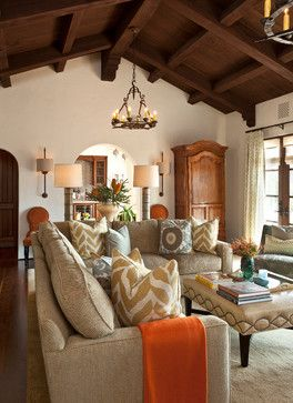 Spanish Colonial Living Room Design Ideas Pictures Remodels And Decor