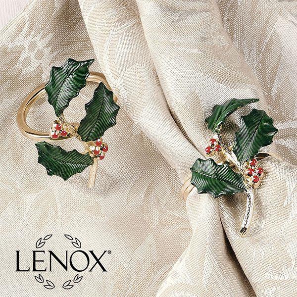 Nouveau Stripe Holly Holiday Decorative Pillows A Lenox Design Christmas Table Linen Decorative Pillows Pillows