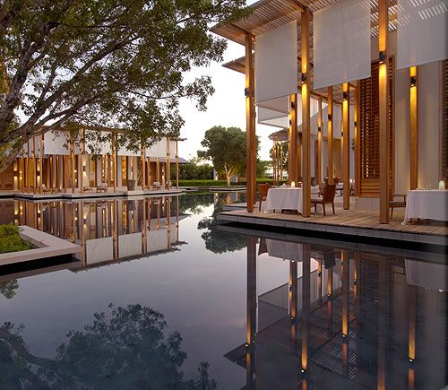 Amanyara, the restaurant terrace