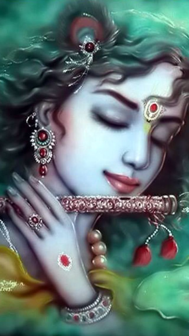 """""I worship Govinda, the primeval Lord, who is adept at playing on His flute, whose eyes are blooming like lotus petals, whose head is bedecked with peacock feathers, whose beauty is tinged with the hue of blue clouds, and whose unique loveliness charms millions of Cupids."" -Brahma samhita 5.30"