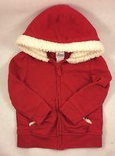 Circo Baby Girls Red Zippered Hooded Sweatshirt Size 2T