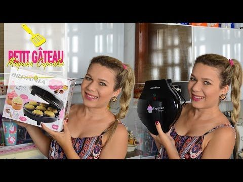 Petit Gâteau na Máquina de Cupcake Britânia #PinkGourmet - YouTube