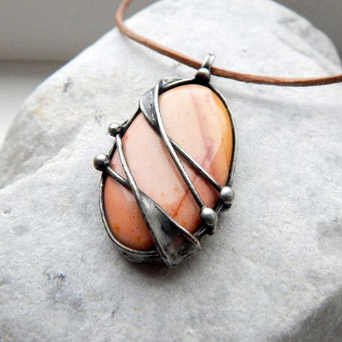 17 best images about tumbled rock jewelry ideas on for How to solder copper jewelry
