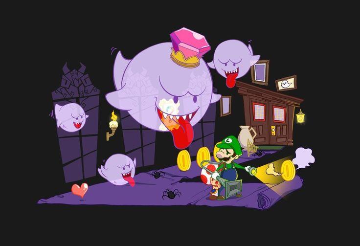 PenelopeLovePrints Luigi's Mansion Poster prints - 3