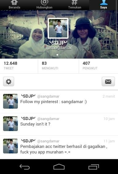 Follow my twitter : @Sangapta DamarJati Purba