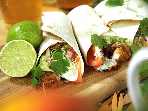 Bbq-burritos med kyckling