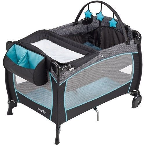 Portable Baby Crib Playard with Nursery Changing Table Bassinet Pack n Play Mat