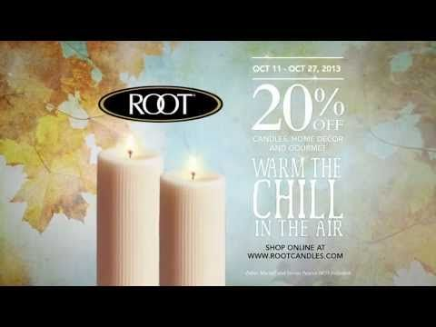 Our Annual Fall Sale begins today! Save 20% off all Root Candles, Home Decor, Fashion Finds, and Gourmet Food in-store and at www.rootcandles.com. Time to stock up!