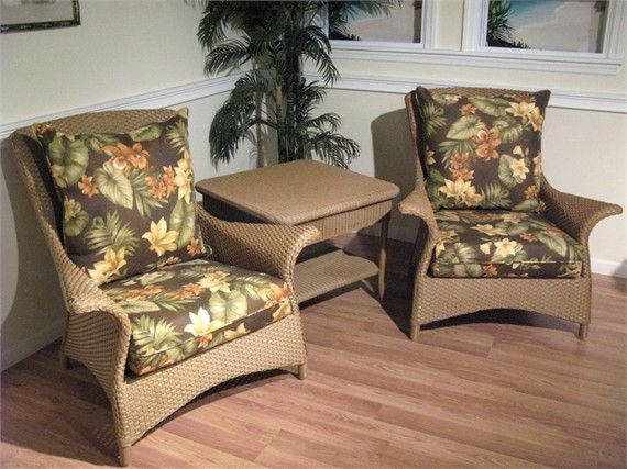 Set Of 2 Lloyd Flanders Mandalay Chairs #wicker #sale #closeout Http:/