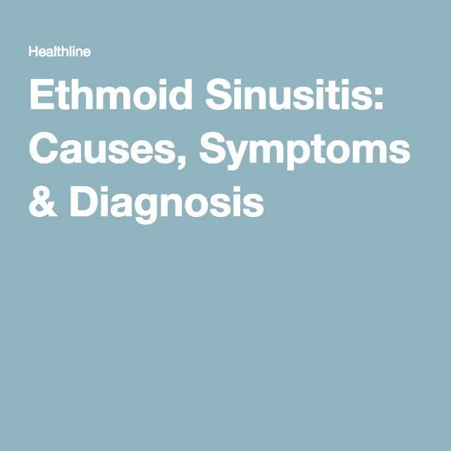 Ethmoid Sinusitis: Causes, Symptoms & Diagnosis  swelling in ethmoid and maxillary sinuses