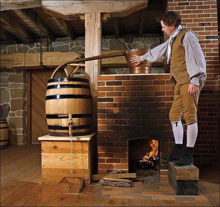 Drinking in Colonial America: making whisky