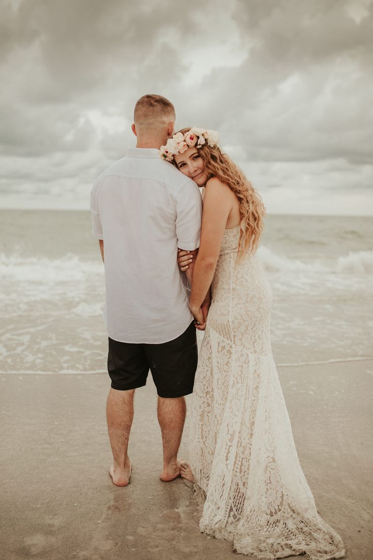 Beautiful beach elopement in florida in 2020 elopement
