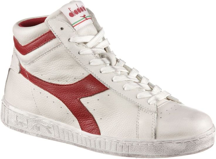 #Diadora #Game #L #High #waxed #Sneaker #Herren #weiß/rot