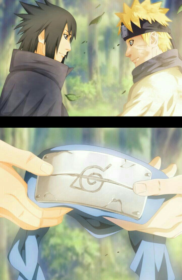 A beautiful scene - Naruto & Sasuke
