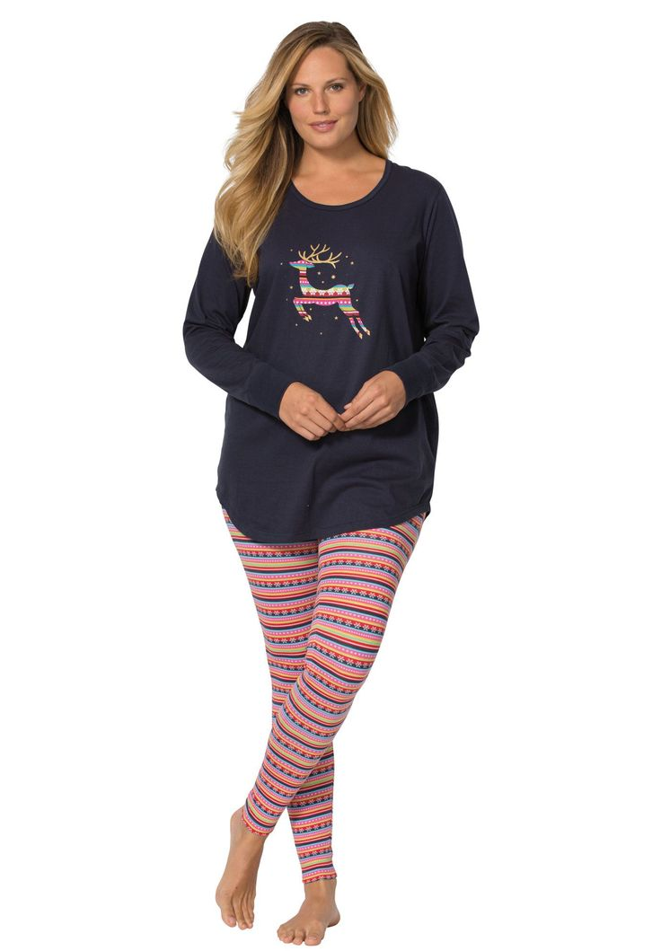 2-piece Legging Pajama Set by Dreams & Co.® - Women's Plus Size Clothing