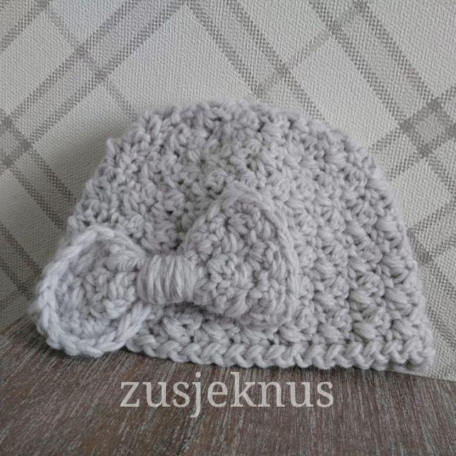 Gratis patroon gehaakt baby mutsje Free pattern crochet baby hat Haken, crochet