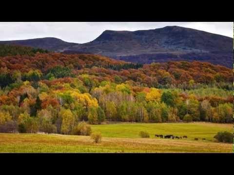 Polish mountains Bieszczady in autumn