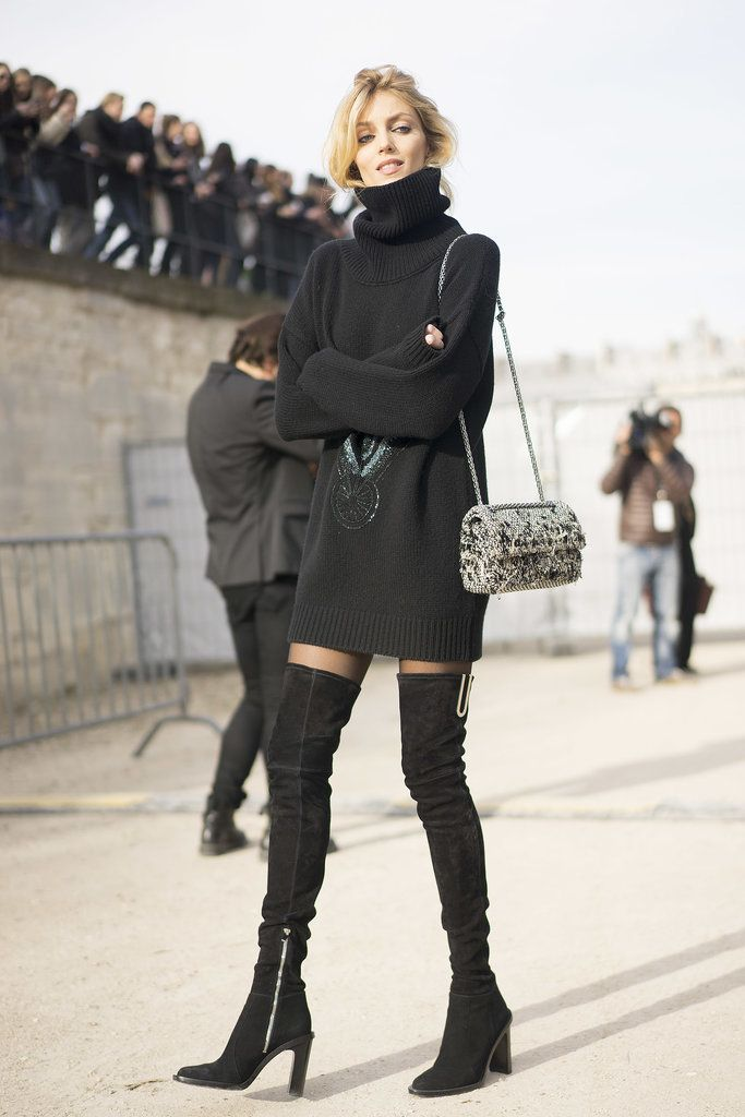Over the knee suede boots with a sweater dress is my intention to wear on a regular basis this winter.
