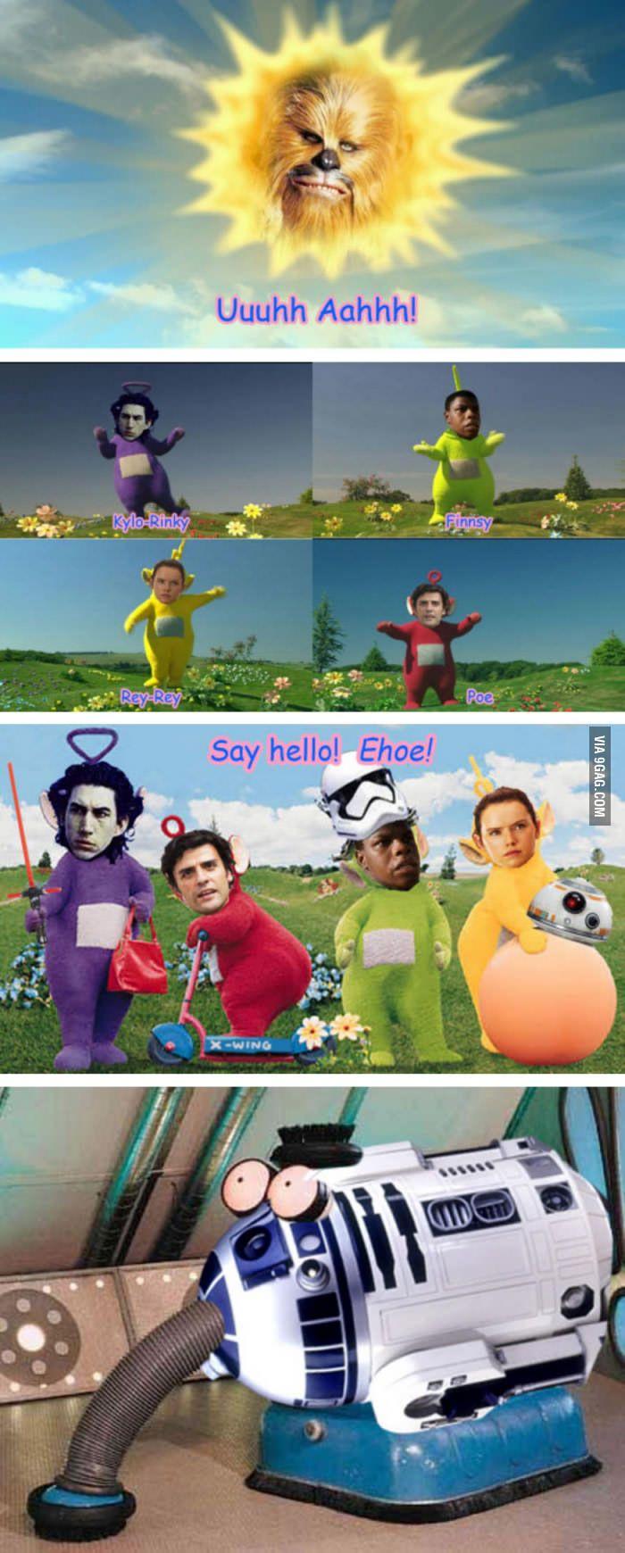 Star Wars characters as teletubbies soooo funny ;)