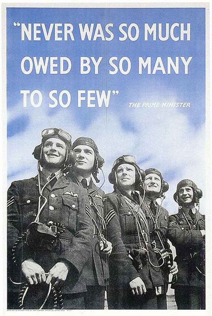 British Poster, Wwii (imperial War Museum) On 20 August 1940 At The ·  Churchill Quoteswinston