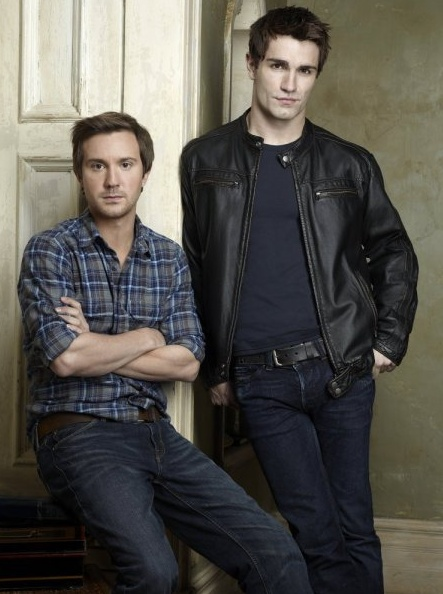 Sam Huntington & Samuel Witwer - Being Human. Fun fact: Witwer played the zombie inside the tank with Rick Grimes in Atlanta on The Walking Dead.