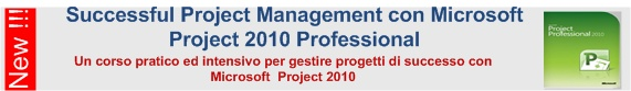 Successful Project Management con Microsoft Project 2010 - A Torino o presso la tua azienda