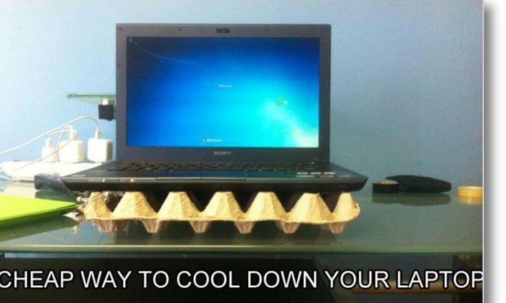 Mantendo o seu laptop em uma caixa vazia de ovos, é a forma mais barata para manter sua bateria laptop legal.