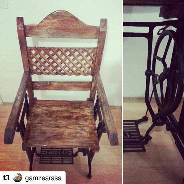 #Repost @gamzearasa with @repostapp ・・・ Dönüşüm... Annelerimizden kalan dikiş makineleri sandalye oldu evimizde yaşıyor. #elyapımı #handmade #dikişmakinesi #ahsap #masif #dönüşüm #koltuk #dikişmakinesindenkoltukyaptık #tahtgibioldu #garajdayapıldı