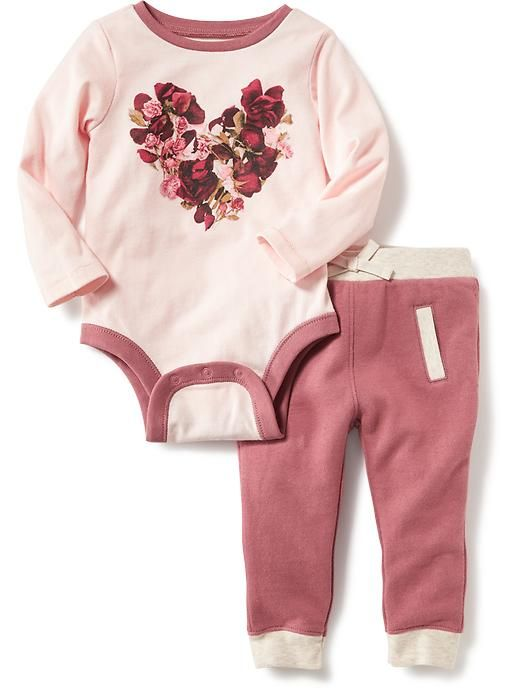 2-Piece Bodysuit and Joggers Set for Baby