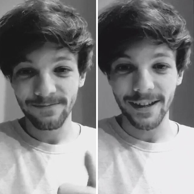 SO SLEEPY AND SOFT! Louis wishing a fan a happy bday with a video!