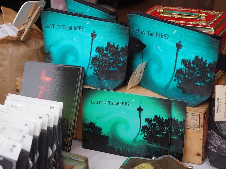 Lost in Tampere? -meikkipusseja ja kortteja / makeup bags and postcards. moumou DESIGN