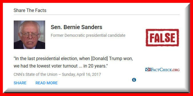 """""""Sanders Wrong on Voter Turnout"""" 